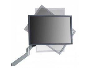 Držák monitoru dvouramenný za desku stolu 1x monitor
