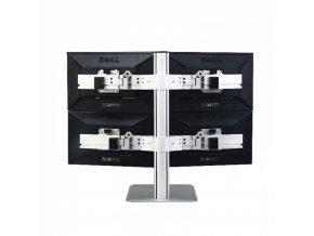 Držák monitorů stojánkový 4x monitor