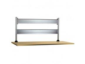 2 x lišta držáků monitorů za desku stolu