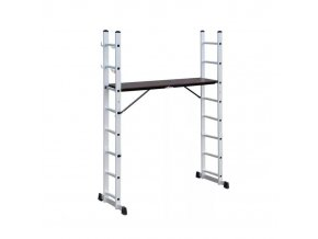 Víceúčelový žebřík s plošinou 2x8 stupňů