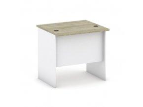 Kancelářský pracovní stůl MIRELLI A+, rovný, délka 800 mm, bílá/dub sonoma