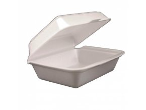 Lunch box z pěnového polystyrenu, jednodílný 190x150x75 mm, balení 400 ks