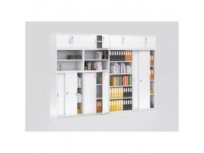Sestava kancelářského nábytku MIRELLI A+, typ D, bílá