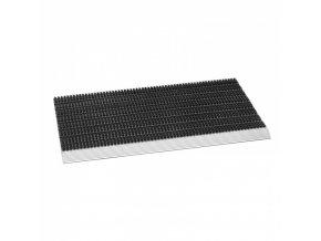 Čistící rohož hliníková, štětinky, černá, 50 x 80 x 2,2 cm, s náběhovou lištou