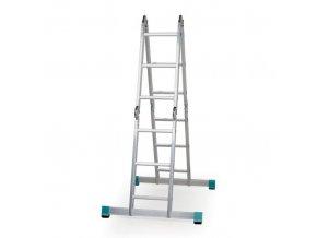 Hliníkový víceúčelový kloubový žebřík ALVE FORTE, 4x3 příčky, délka 3,48 m
