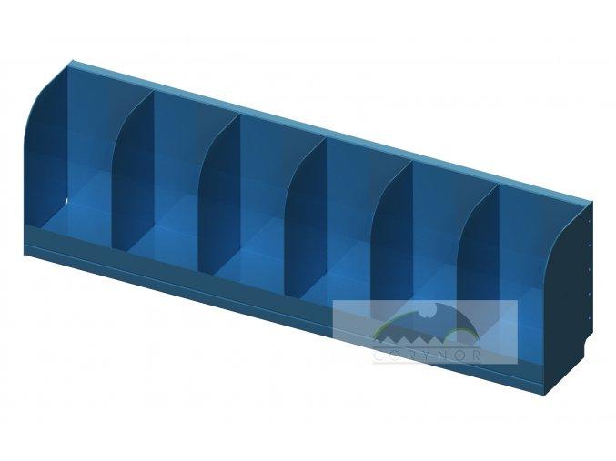 Úložné šachty modulárního regálu