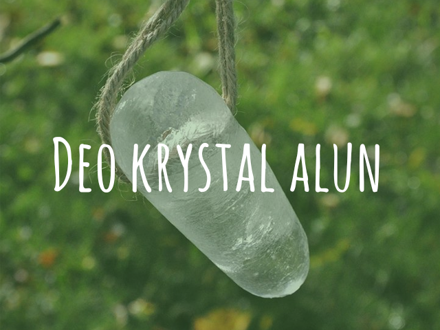 Krystalový deodorant alun, neboli kamenec