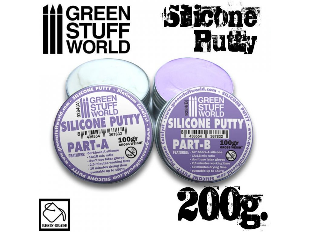blue silicone putty 200gr