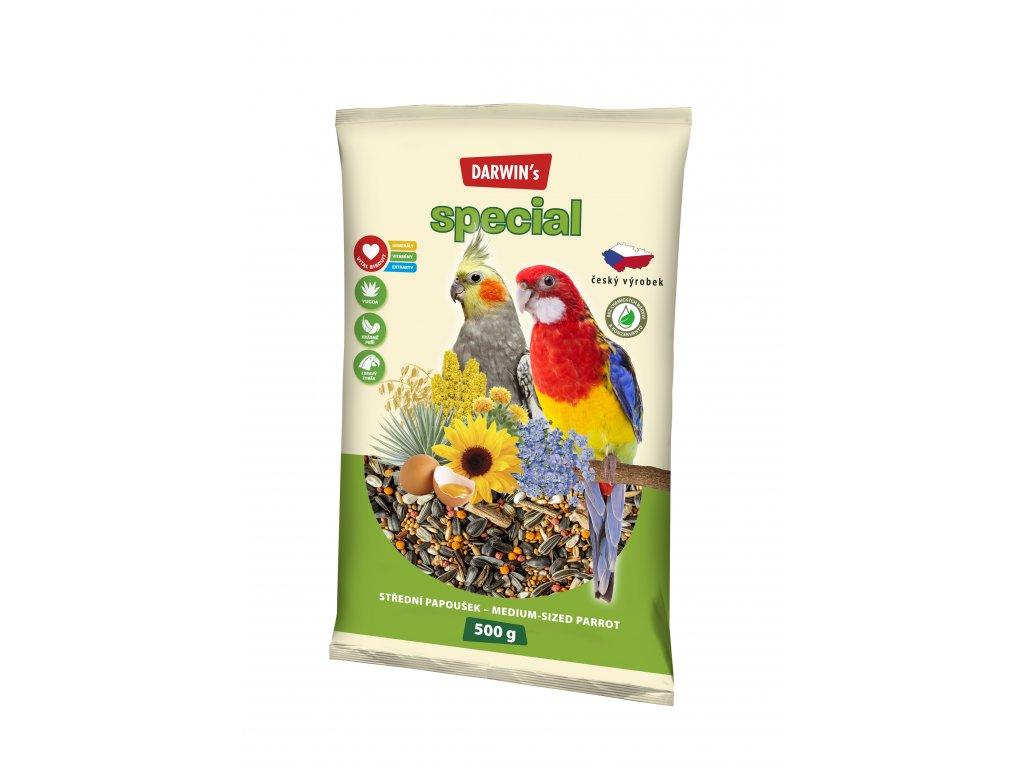 567 darwin s special stredni papousek 500g