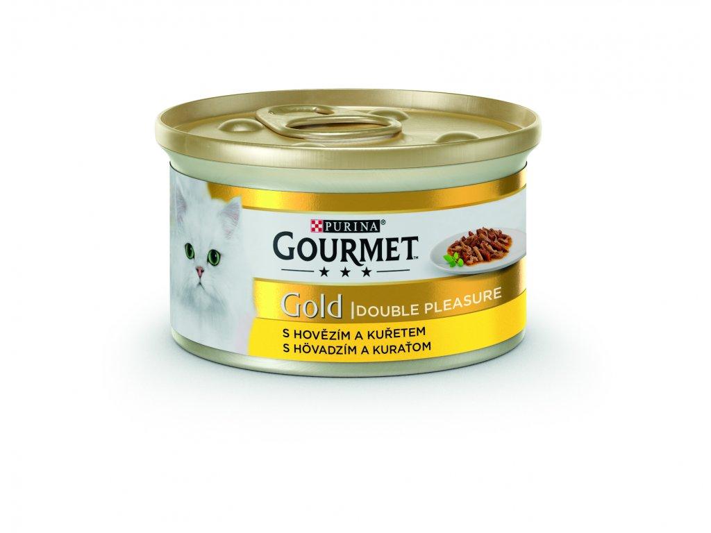 1818 gourmet gold s hovezim a kuretem 85g