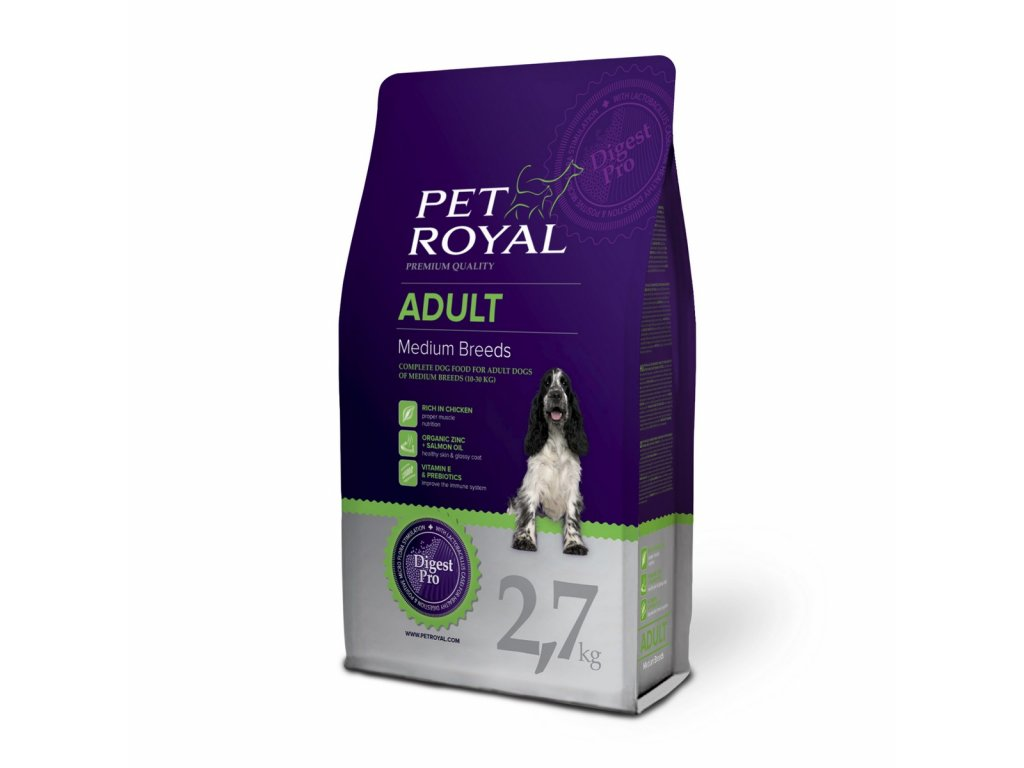 2907 pet royal adult dog medium breeds 2 7kg