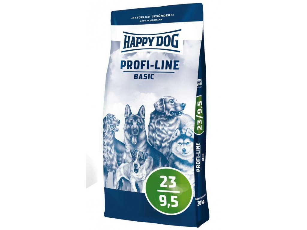 4065 happy dog profi krokette 23 9 5 basic 20kg