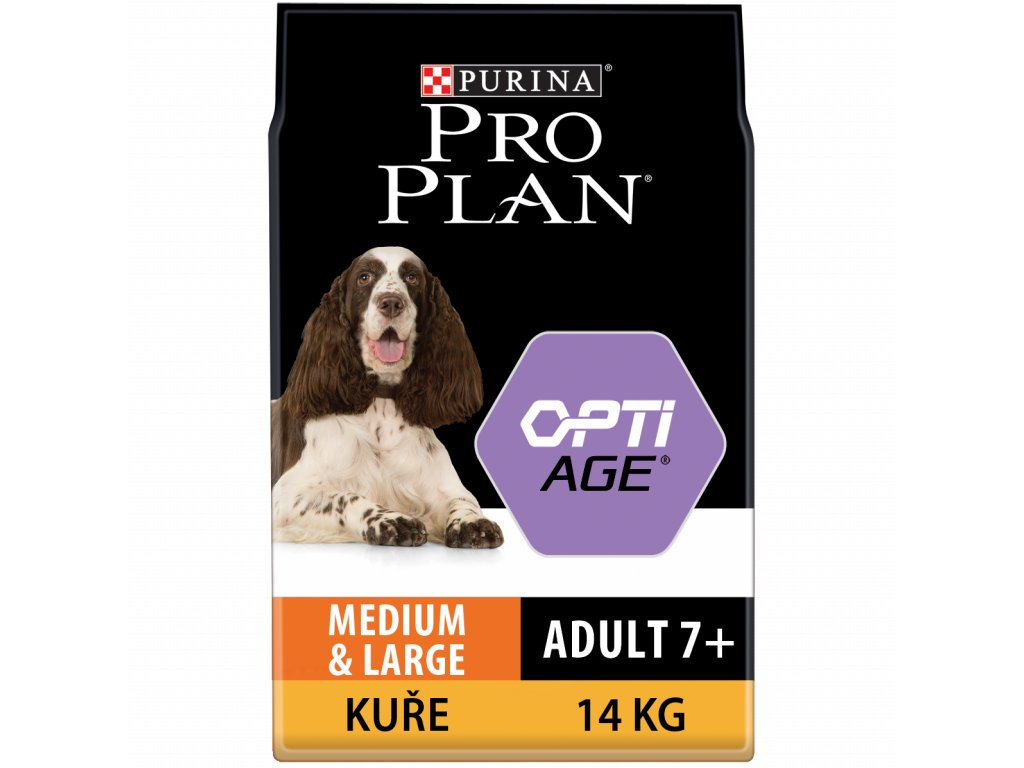 PRO PLAN MEDIUM & LARGE ADULT 7+ OPTIAGE kuře 14kg
