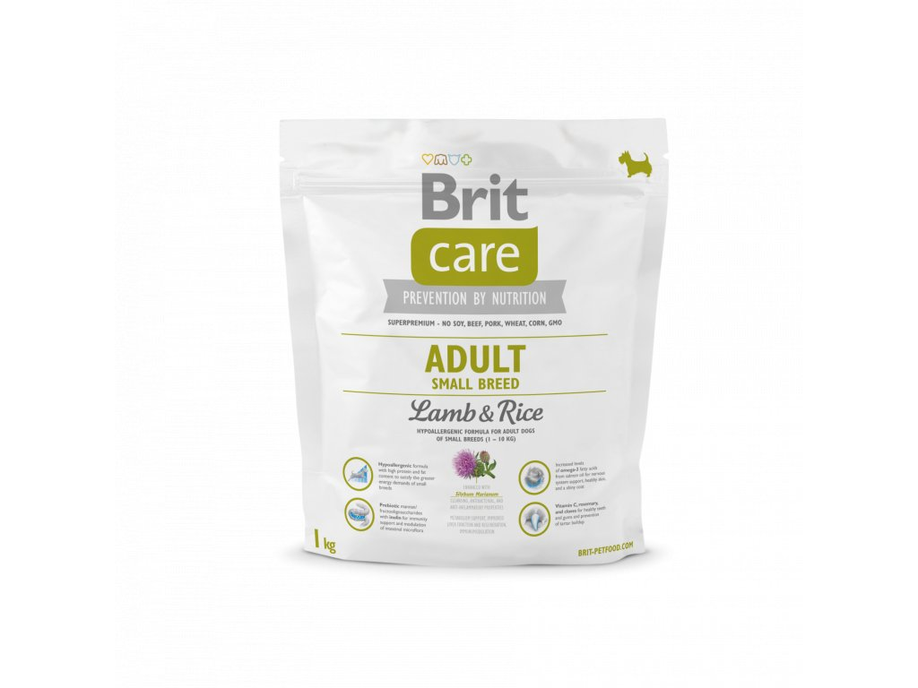4203 brit care adult small breed lamb rice 1kg