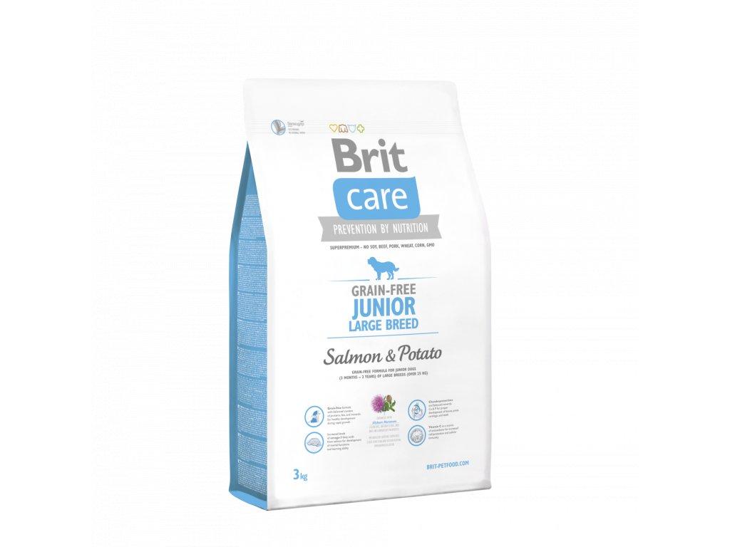 4245 brit care grain free junior large breed salmon potato 3kg