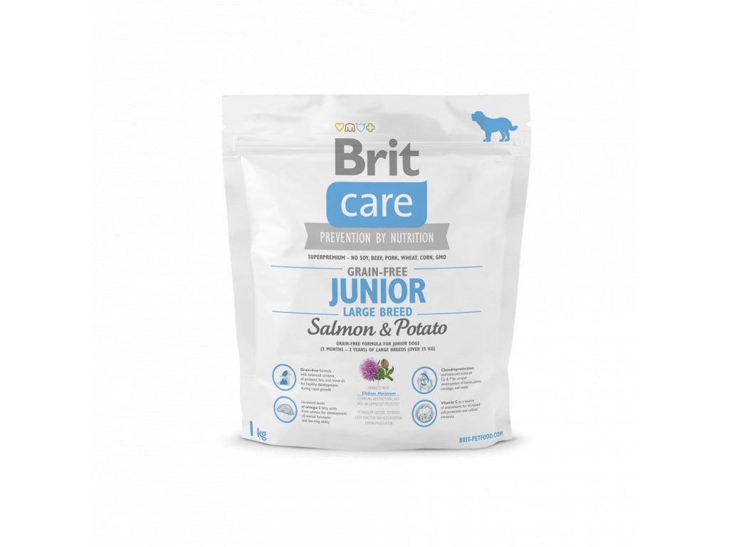 4248 brit care grain free junior large breed salmon potato 1kg