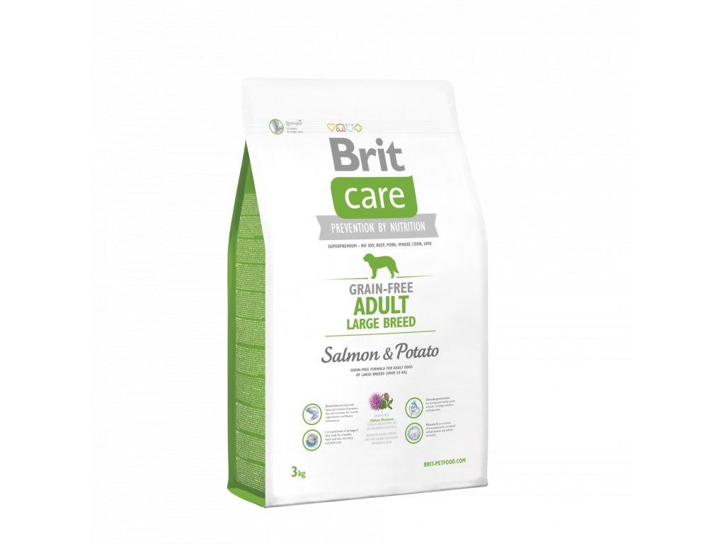 4263 brit care grain free adult large breed salmon potato 3kg