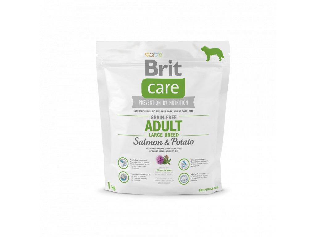 4266 brit care grain free adult large breed salmon potato 1kg
