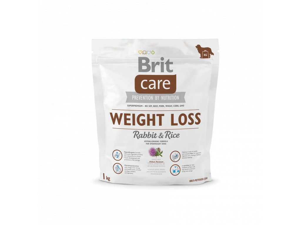 4293 brit care weight loss rabbit rice 1kg