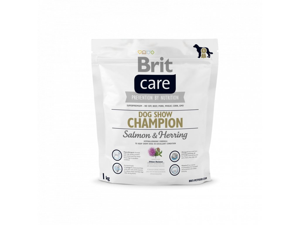 4311 brit care dog show champion salmon herring 1kg