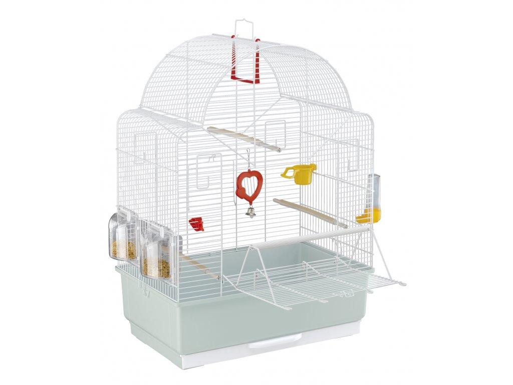 4488 ferplast klec pro ptaky s vybavou ibiza open bila perlet