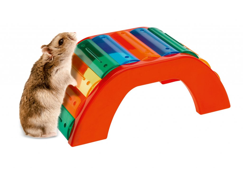 4809 hracka ferplast barevny most pro krecky