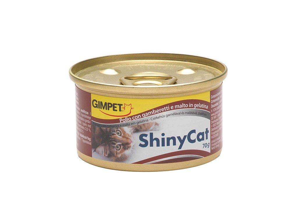 5073 konzerva shiny cat kure kreveta 70g