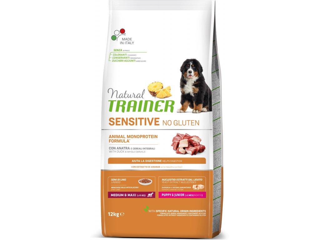 Trainer Natural Sensitive No glutén Puppy & Jun M / M kačica 12kg