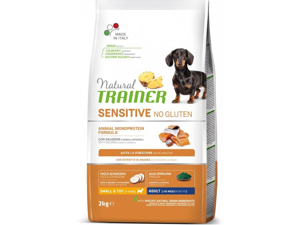 Trainer Natural Sensitive No glutén Adult MINI losos 2kg