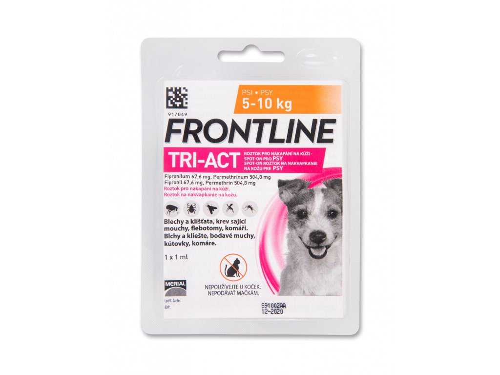 5322 frontline antiparazitikum tri act spot on dog 1ml s