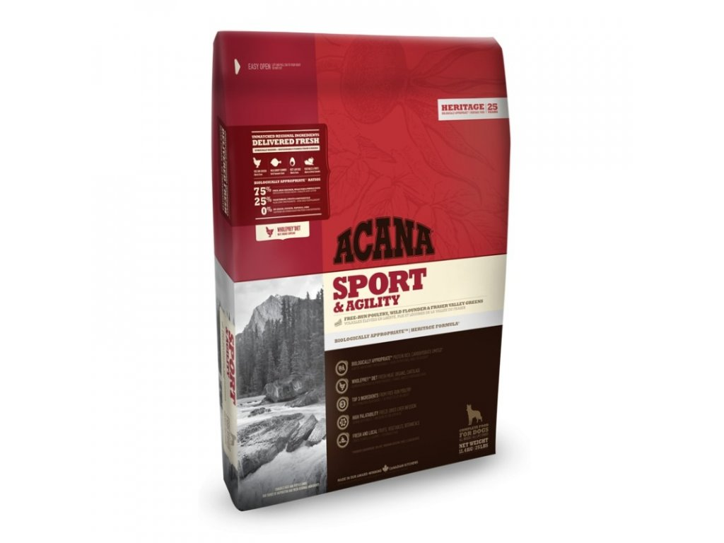 5820 acana heritage class sport and agility 17kg