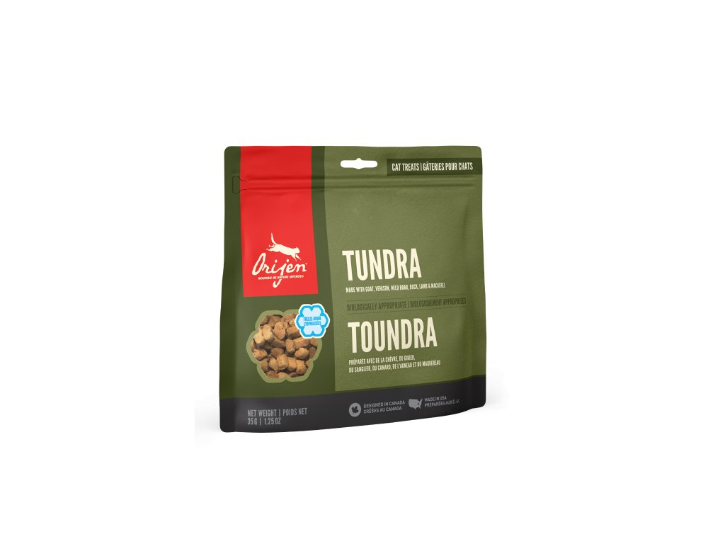6108 orijen freeze cat snack tundra 35g