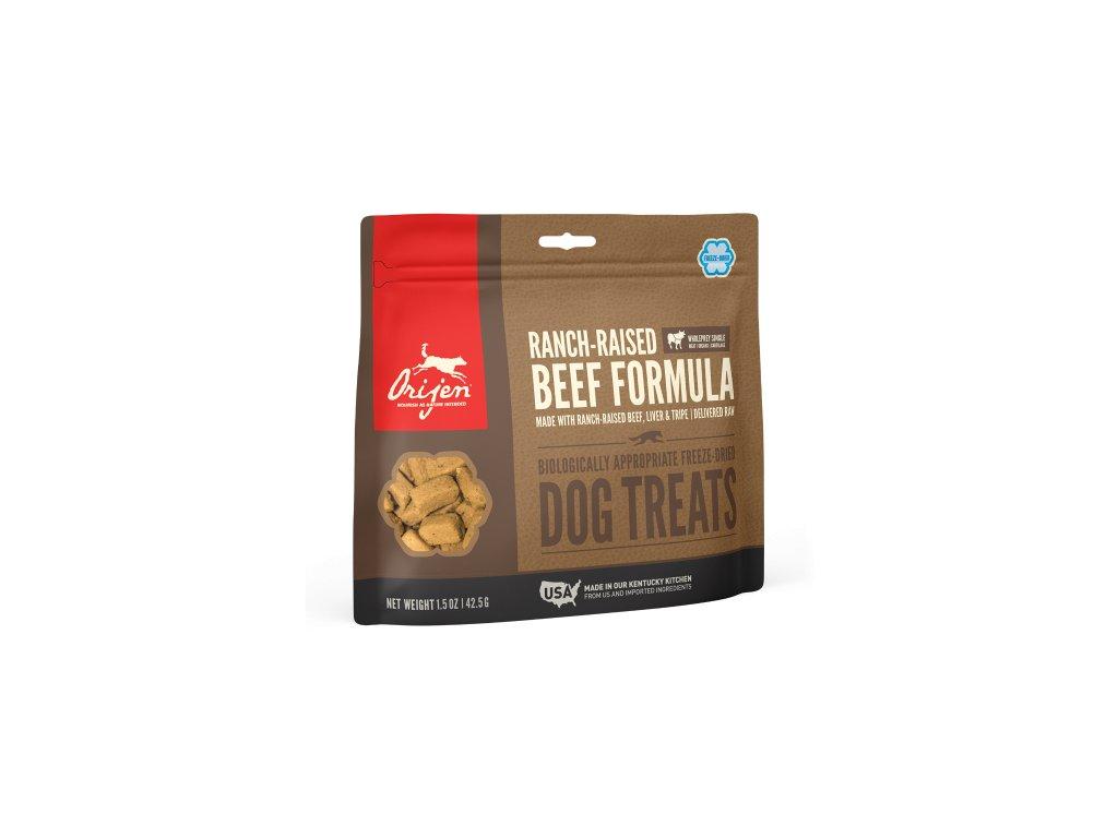 6147 orijen freeze dog snack black angus beef 42 5g