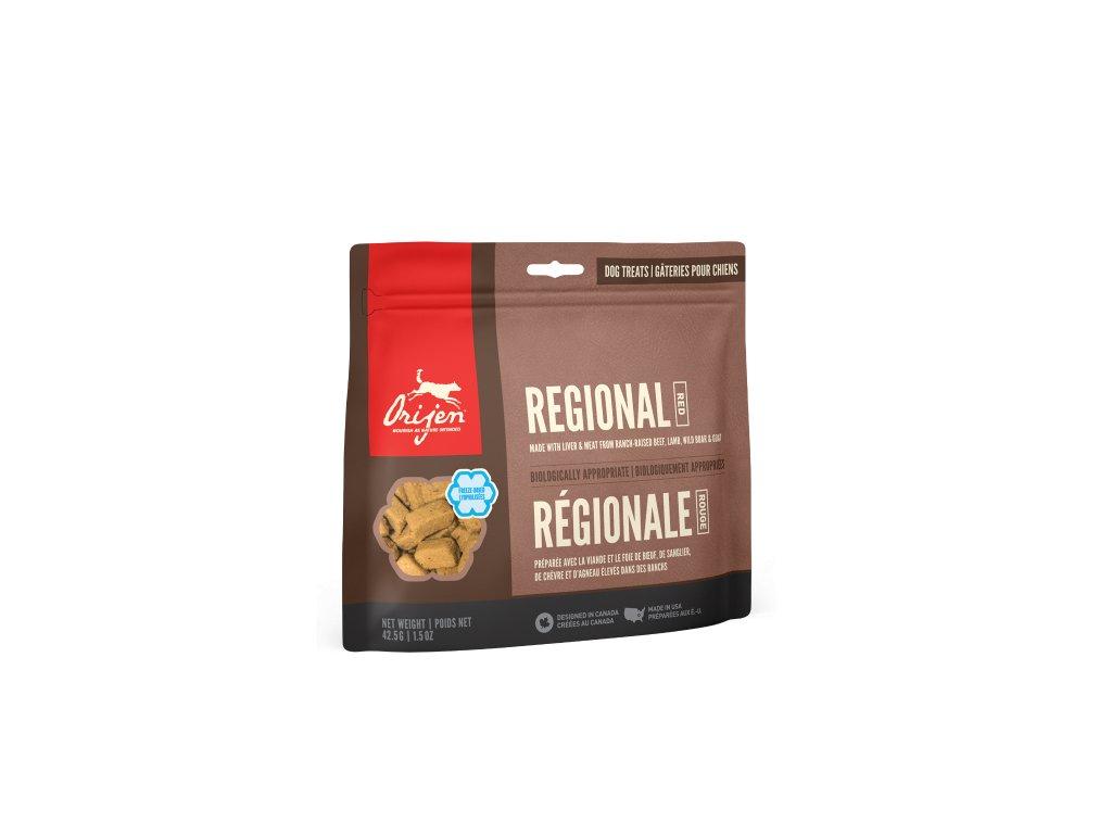 6165 orijen freeze dog snack regional red 42 5g