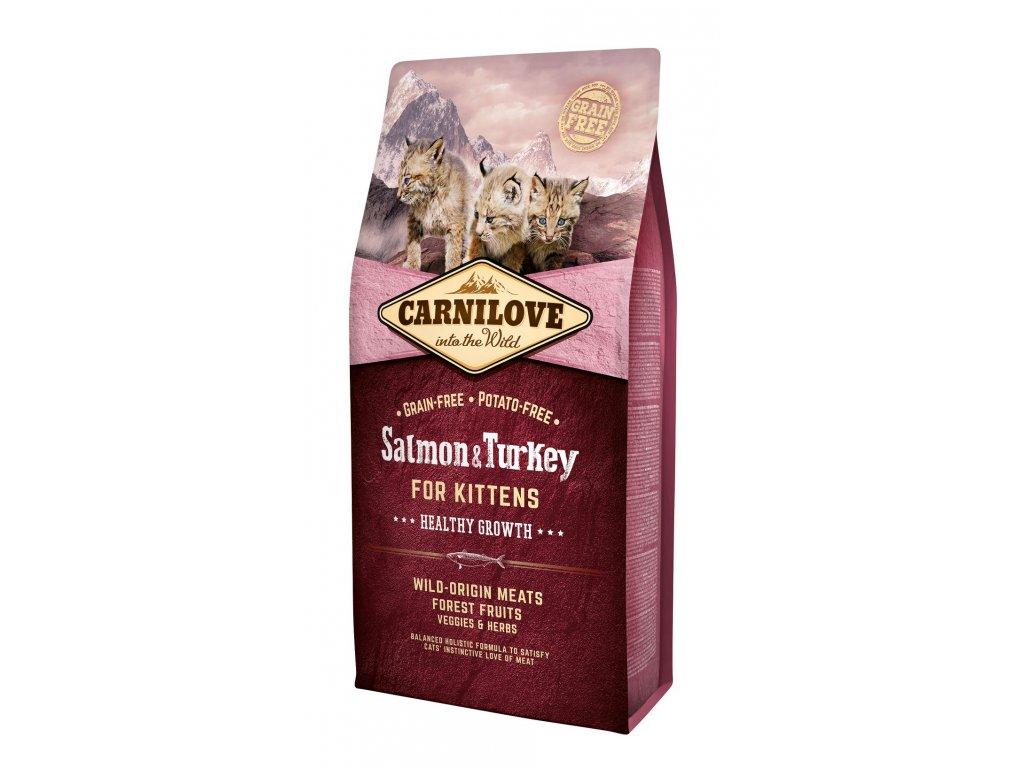 6642 carnilove cat grain free salmon turkey kittens healthy growth 6kg