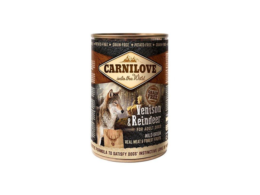 6654 konzerva carnilove wild meat venison reindeer 400g