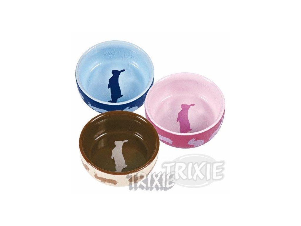 7113 trixie keramicka miska pro kraliky barevna 250 ml 11 cm