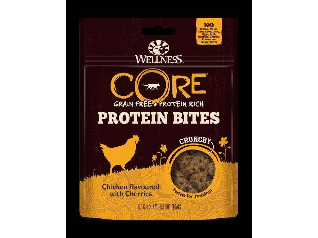 Wellness CORE Protein Bites Chicken Flavoured with Cherries 170g