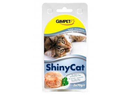 ShinyCat konzerva tuniak+krevety 2x70g