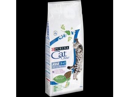5511 purina cat chow 3 in1 s naturium a s vysokym podilem kruty