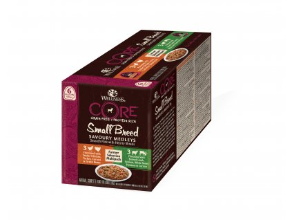 Wellness CORE Small Breed Savoury Medleys Farmer Selection Multipack