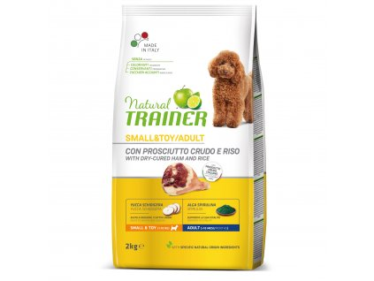 TRAINER Natural Small&Toy Adult Prosciutto a ryza 2kg