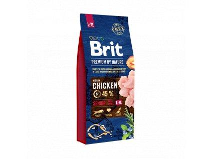 12921 brit premium by nature senior l xl 15kg