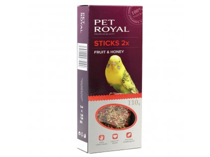 15693 pet royal stick andulka ovoce med 2ks