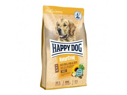 16185 happy dog naturcroq geflugel pur reis 15kg