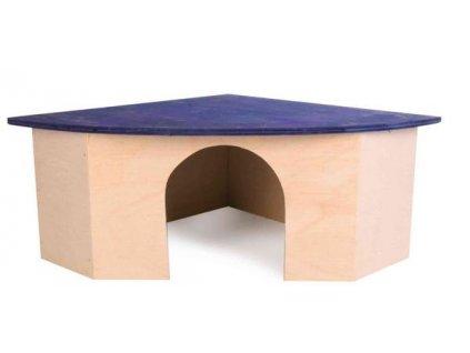 16710 huhubamboo domek rohovy krecek 22x10x16cm 16cm