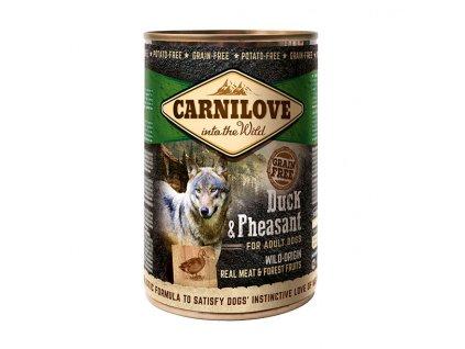 16776 konzerva carnilove wild meat duck pheasant 400g