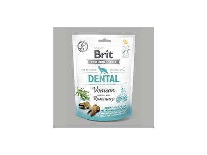18567 brit care dog snack dental venison 150g