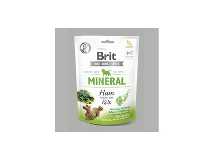 18579 brit care dog snack mineral ham for puppies 150g
