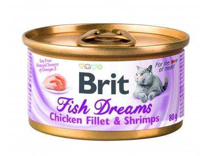 18591 konzerva brit fish dreams chicken fillet shrimps 80g